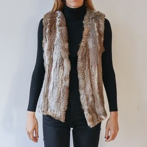 525 America. Rabbit Fur Vest